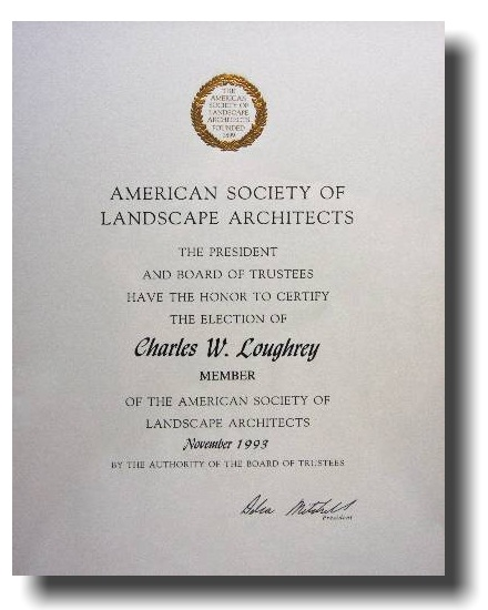 Charles loughrey design for Society of landscape architects